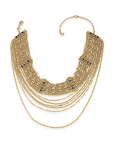 Carolee Gold-Tone Nine to Five Choker Necklace