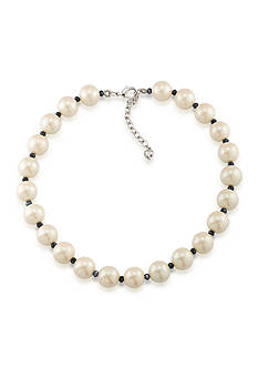 Carolee Silver-Tone Soho House Pearl Collar Necklace