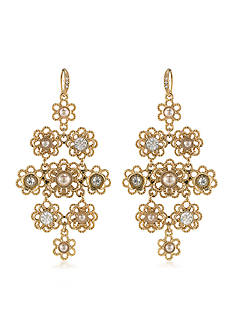 Carolee Union Square Chandelier Pierced Earrings