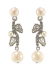 Carolee Silver-Tone Washington Square Linear Earrings