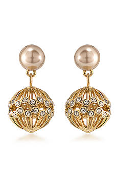 Carolee Union Square Double Drop Pierced Earrings