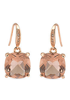 Carolee Pocket Park Cushion Drop Earrings