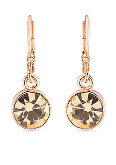 Carolee Rose Gold-Tone Pocket Park Round Drop Earrings