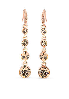 Carolee Rose Gold-Tone Pocket Park Linear Drop Earrings