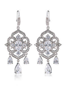 Carolee Silver-Tone The Cloisters Clear Crystal Chandelier Earrings