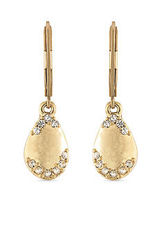 Carolee Gold-Tone Riverside Park Petal Drop Earrings