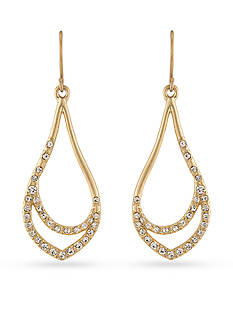 Carolee Gold-Tone Riverside Park Drop Earrings