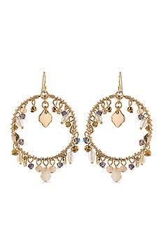 Carolee Gold-Tone Battery Park Gypsy Hoop Earrings