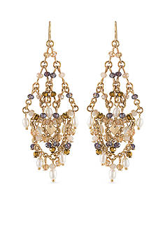 Carolee Gold-Tone Battery Park Chandelier Earrings