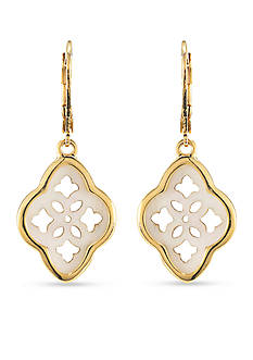 Carolee Gold-Tone Battery Park Drop Earrings