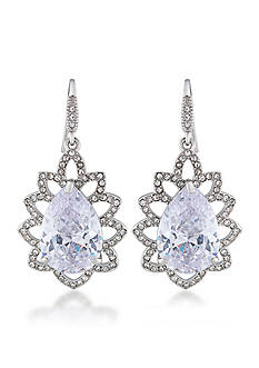Carolee Prospect Park Clear Teardrop Earrings