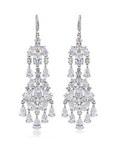 Carolee Prospect Park Clear Dramatic Chandelier Earrings