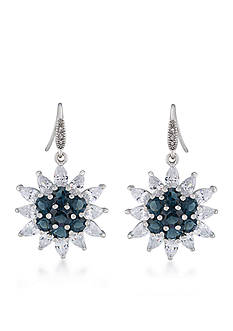Carolee Prospect Park Cluster Drop Pierced Earrings