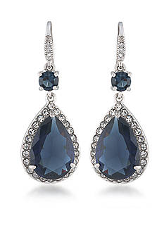 Carolee Prospect Park Blue Double Drop Earrings