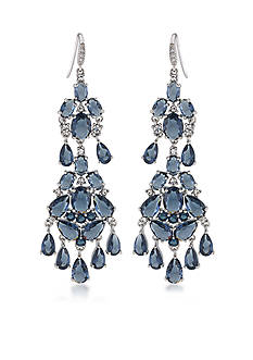 Carolee Prospect Park Blue Dramatic Chandelier Earrings