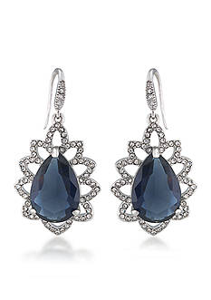 Carolee Prospect Park Blue Teardrop Earrings