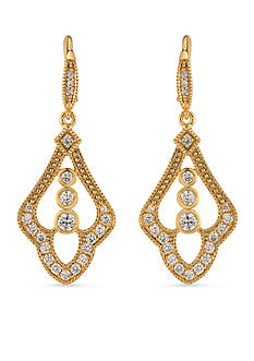 Carolee Gold-Tone Bryant Park Drop Earrings