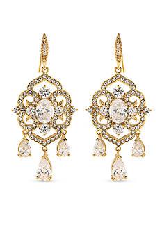 Carolee Gold-Tone Bryant Park Chandelier Earrings