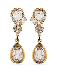 Carolee Gold-Tone Bryant Park Double Drop Earrings
