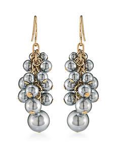 Carolee Gold-Tone West Side Cluster Drop Earrings