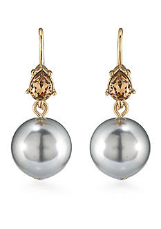 Carolee Gold-Tone West Side Double Drop Earrings