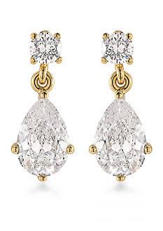 Carolee Gold-Tone The Apollo Pear Drop Earrings