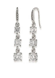 Carolee Silver-Tone East Side Triple Drop Earrings