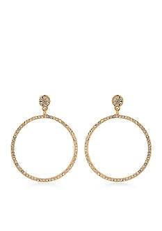 Carolee The Apollo Gypsy Hoop Pierced Earrings