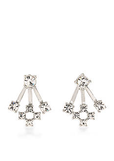 Carolee Silver-Tone East Side Front and Back Earrings