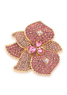 Carolee Gold-Tone Mom's the Word Fuchsia Fashionista Pin