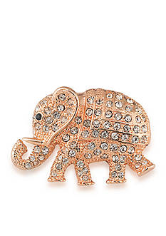 Carolee Rose Gold-Tone Mom's the Word Rosy Elephant Pin