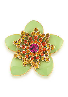 Carolee Gold-Tone Mom's the Word Tropical Paradise Pin