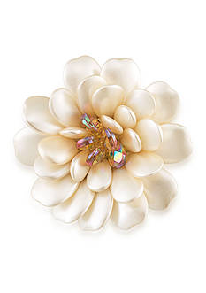 Carolee Gold-Tone Mom's the Word Pearl Blossoms Pin