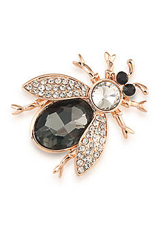 Carolee Rose-Gold Tone Mom's the Word Botanical Beetle Pin