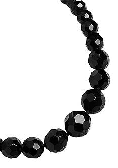 Carolee Graduated Faceted Jet Necklace