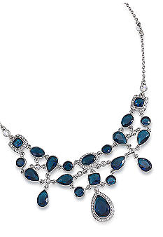 Carolee Simply Blue Ornate Crystal Pendant Necklace<br>