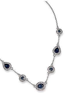 Carolee Simply Blue Crystal Illusion Necklace