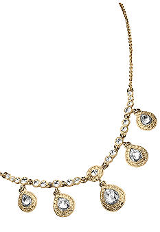 Carolee Champagne Toast Frontal Drop Crystal Necklace
