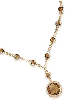 Carolee Bezel Set Pendant