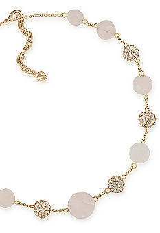 Carolee Rock Stars Rose Quartz Illusion Necklace