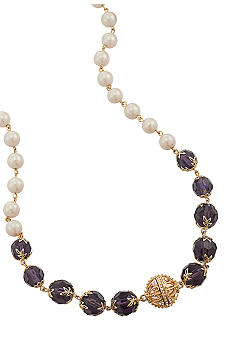 Carolee Purple Haze Mixed Strand Necklace