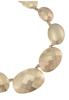Carolee Satin Gold Collar Necklace