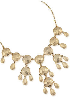 Carolee Satin Gold Drama Necklace