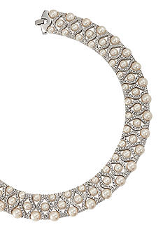 Carolee 40th Anniversary Outrageous Faux Dramatic Pearl Collar Necklace