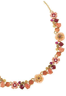 Carolee The Bright Side Frontal Flower Necklace