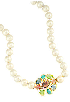 Carolee Jeweled Closure Pearl Strand