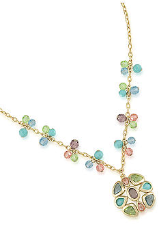 Carolee Jeweled Flower Pendant