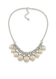 Carolee Picnic Pearls Charm Necklace