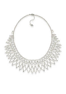 Carolee Crystal Stems Dramatic Frontal Necklace