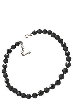 Carolee 10mm Faceted Jet Bead Necklace